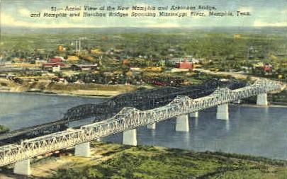 New Memphis & Arkansas Bridge  - Tennessee TN Postcard