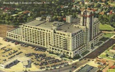 Sears, Roebuck & Company  - Memphis, Tennessee TN Postcard