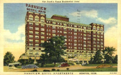 Parkview Hotel Apartments - Memphis, Tennessee TN Postcard