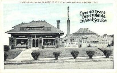 Idlewild Greenhouses - Memphis, Tennessee TN Postcard