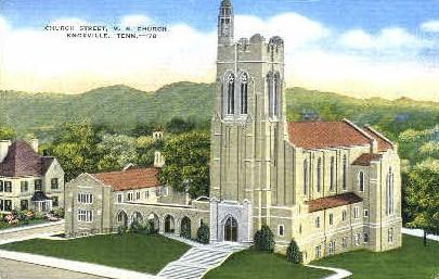 Church Street, M.E. Church  - Knoxville, Tennessee TN Postcard