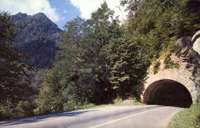 The Lower Tunnel  - Great Smoky Mountains National Park, Tennessee TN Postcard