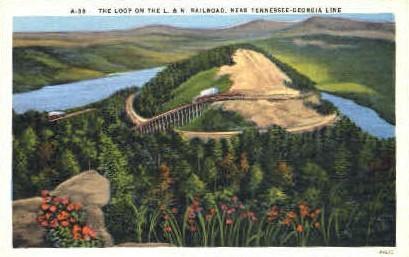 L. & N. Railroad Loop  - Georgia Line, Tennessee TN Postcard