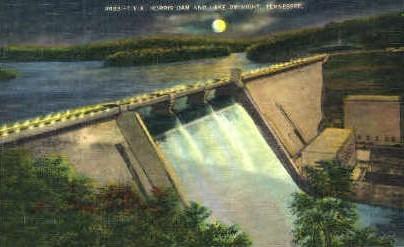 Norris Dam & Lake - Tennessee TN Postcard