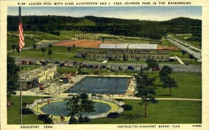 Legion Pool  - Kingsport, Tennessee TN Postcard