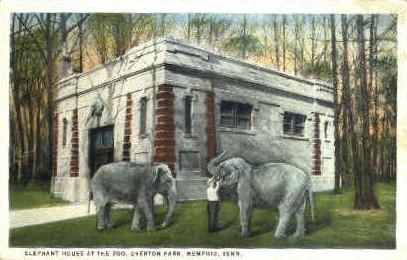 Elephant House at Zoo, Overton Park - Memphis, Tennessee TN Postcard