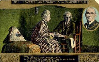 Lover's Lane, Saint Jo.  - Misc, Tennessee TN Postcard