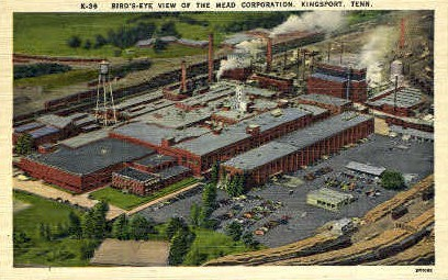 The Mead Corporation  - Kingsport, Tennessee TN Postcard
