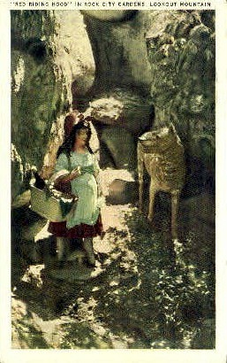 Red Riding Hood, Rock City Gardens - Lookout Mountain, Tennessee TN Postcard