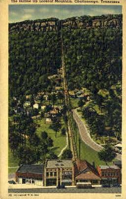 Incline Up, Lookout Mountain - Chattanooga, Tennessee TN Postcard