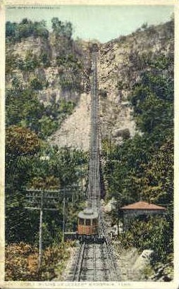 Cable Incline  - Lookout Mountain, Tennessee TN Postcard