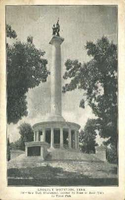 New York Monument - Lookout Mountain, Tennessee TN Postcard