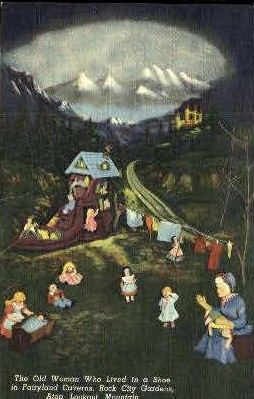 Fairyland Caverns, Rock City Gardens - Lookout Mountain, Tennessee TN Postcard