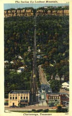 The Incline Up Lookout Mountain - Chattanooga, Tennessee TN Postcard
