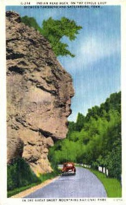 Indian Head Rock - Great Smoky Mountains National Park, Tennessee TN Postcard