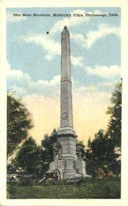 Ohio State Monument - Chattanooga, Tennessee TN Postcard