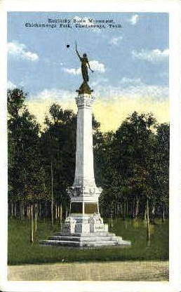 Kentuckey State Monument - Chattanooga, Tennessee TN Postcard