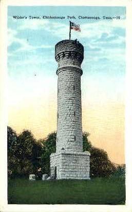 Wilder's Tower - Chattanooga, Tennessee TN Postcard