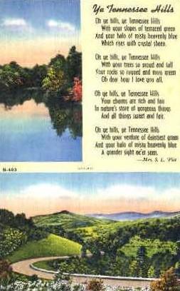 Tennessee Hills - Misc Postcard