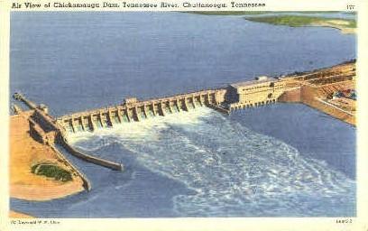 Chickamauga Dam - Chattanooga, Tennessee TN Postcard
