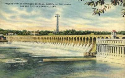 Wilson Dam - Memphis, Tennessee TN Postcard