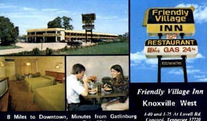 Friendly Village Inn - Knoxville, Tennessee TN Postcard