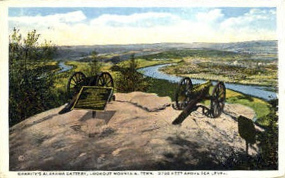 Garrity's Alabama Battery - Lookout Mountain, Tennessee TN Postcard