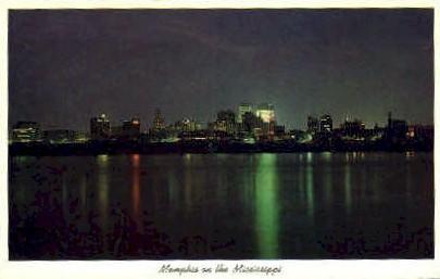 Memphis, Mississippi River - Tennessee TN Postcard