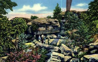 Balanced Rock - Lookout Mountain, Tennessee TN Postcard