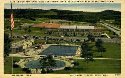 J. Fred Johnson Park - Kingsport, Tennessee TN Postcard