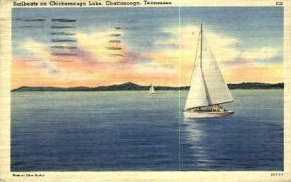 Chickamauga Lake - Chattanooga, Tennessee TN Postcard