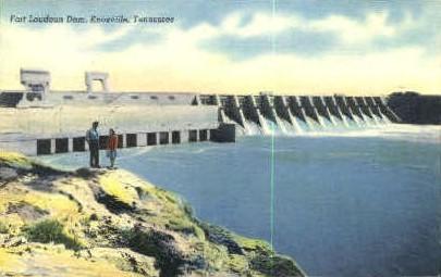 Fort Loudoun Dam - Knoxville, Tennessee TN Postcard