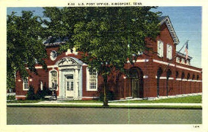 U.S. Post Office  - Kingsport, Tennessee TN Postcard