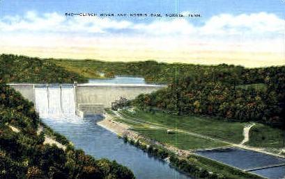 Clinch River & Norris Dam - Tennessee TN Postcard
