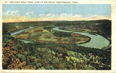 Moccasin Bend, Lookout Mountain - Chattanooga, Tennessee TN Postcard