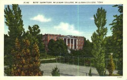 Boy's Dormitory - Milligan College, Tennessee TN Postcard