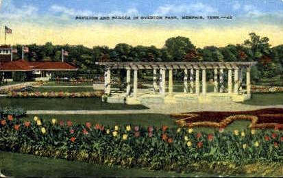 Pavilion & Pagoda in Overton Park - Memphis, Tennessee TN Postcard