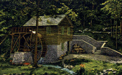 Old Rice Grist Mill - Norris, Tennessee TN Postcard