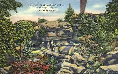 Balanced Rock & Sky Bridge - Lookout Mountain, Tennessee TN Postcard