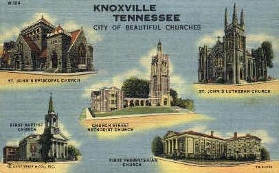 Church Street Methodist Church  - Knoxville, Tennessee TN Postcard