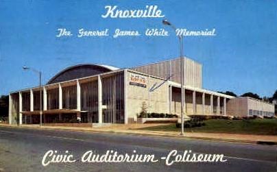 Civic Auditorium-Coliseum  - Knoxville, Tennessee TN Postcard