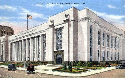 U.S. Post Office  - Knoxville, Tennessee TN Postcard