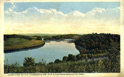 Tennessee River & Valley - Knoxville Postcard