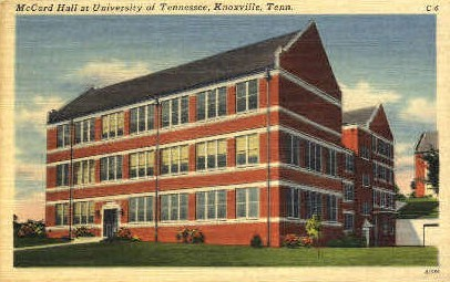 McCord Hall, University of Tennessee - Knoxville Postcard