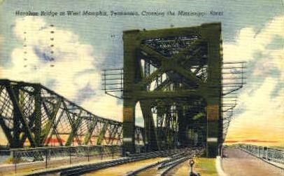 Harahan Bridge  - Memphis, Tennessee TN Postcard