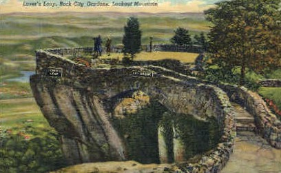 Lover's Leap, Rock City Gardens - Lookout Mountain, Tennessee TN Postcard