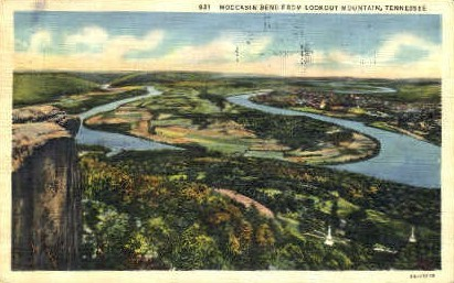 Moccasin Bend - Lookout Mountain, Tennessee TN Postcard