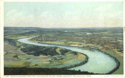 Chattanooga & the Tennessee River - Lookout Mountain Postcard