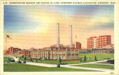 Administration Building & Portion of Plant - Kingsport, Tennessee TN Postcard
