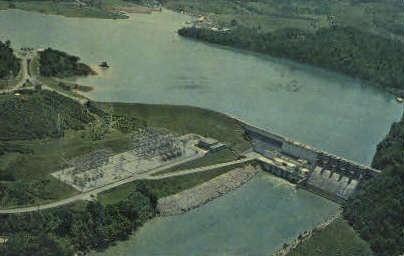 Boone Dam & Lake - Bristol, Tennessee TN Postcard